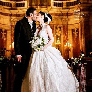 GIULIA Custom Order Corset Lace Wedding Ballgown